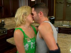 Shy Blonde Babe Gets Wild And Dirty In Hardcore Kitchen Sex