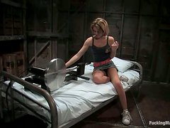 Emily Evermoore Hot Blonde Fucked by Machine and Sybian