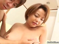 Lusty Japanese girl loves sucking with cum in her mouth