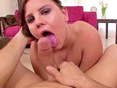 POV deepthroat with slender Michelle Brown