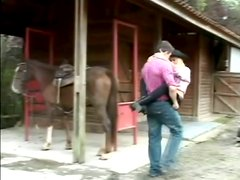 Hot blonde Cristal enjoys some naughty anal banging in a shed