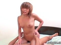 Young Japanese girl with small tits fucked