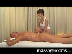 Busty masseur is getting her client so sensual