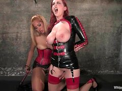 Big tittied Mz Berlin gets toyed rough by her mistress