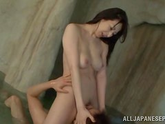 Hitomi Oohashi blows and gets fucked in all positions in a sauna