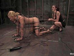 Blonde Isis Love gets gagged and humiliated by her mistress