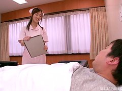 Alluring Asian Nurse Sayuki Kanno Seducing Lucky Patient
