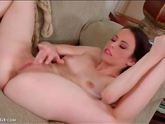 Veronica Radke moans as she masturbates