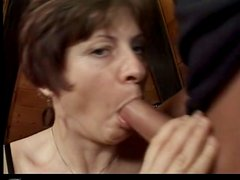 Horny Granny With Small Tits Gets Hard Cock In Her Twat