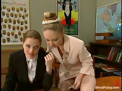 Cute Teacher Transforms To A Kinky Dominatrix After Class. See How She Subdues Her Colleague!