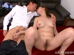 Gorgeous Japanese milf gets her vag fingered and fucked in all positions