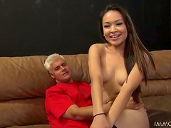Smoking hot Asian babe Lily Lust enjoys a cock and toy