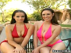 Lucky Guy Joins Two Lesbo Chicks In Hot Action