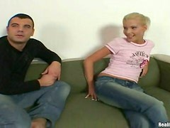 Skinny Blonde Likes To See A Lots Of Sperm