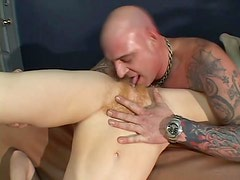 Annie Body gets her hairy vagina licked and banged deep and hard