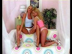 Silvia Saint and Sue Diamond kiss and toy each other's sweet vags