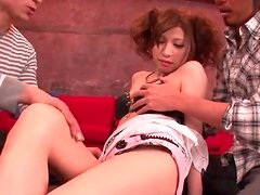 Teen likes how they fondle her body