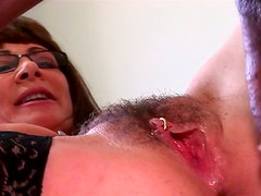 Horny big ass brunette gets her hairy pussy screwed
