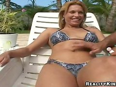 Nickie Fucking Outdoor Near A Pool