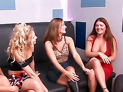 Hot lesbians have a hot foursome on camera