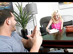 Blondie gets her gash stuffed with dick