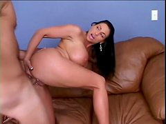 Curvy brunette Harley Rain gets her cunt pounded hard in many positions