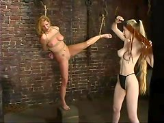 Sexy Jenni Lee gets tied up and whipped by a blonde mistress