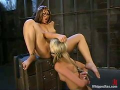 Wonderful act of femdom fantasies with two babes