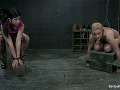 Two Sexy Girls Get Slaved and Spanked in Torture and Bondage video