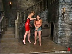 Sexy Audrey Leigh and Wenona in hot wax session