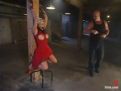 Gia Paloma gets her mouth and twat drilled remarcably well in BDSM vid