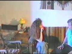 Retro video with curly girl getting fucked in her bushy pussy