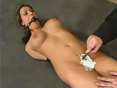 Sasha Sparks gets bound and toyed with a fucking machine
