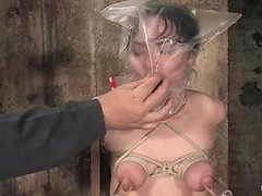 Hot Lielani gets tortured and choked in rough bondage video
