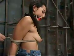 Leilani gets tied up and tortured in a vault and enjoys it