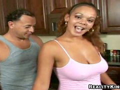 Cute Ebony Takes The Biggest Dick She's Ever Seen