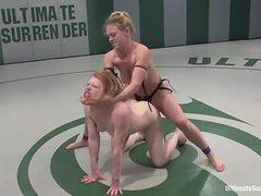 Two horny and wicked strong babes are in a catfight