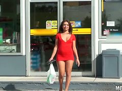 Masturbation In Public Is What This Brunette Love To Do