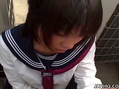 Thin Asian Hoe In Miniskirt Is Awesome In Blowjob And Handjob
