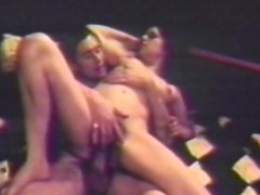 Vintage sex video with busty milf with hairy pussy