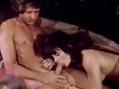 Vintage sex action in the garden with milf with hairy pussy