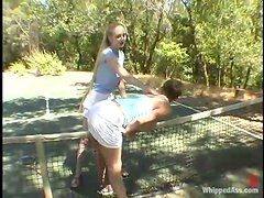 Two sexy chicks have hot lesbian sex after playing tennis