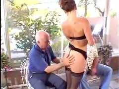 Mrs. Tanner gets her mouth and pussy fucked hard by a black stud