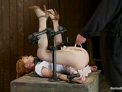 Nice Marie Mccray gets whipped and then toyed in BDSM vid
