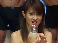 Slender Japanese chick is banging in double penetration scene