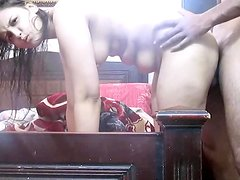 Amateur chubby Indian girlfriend fucked in the doggystyle