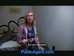 Amateur blonde girl fucks in a bathroom and a bedroom