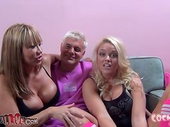 Two juicy and charming sex dolls are in a hot threesome