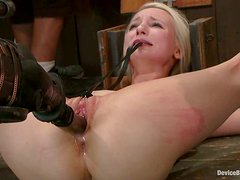 Having Fun Playing with Two Dominated Blonde Girls