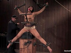 Sexy DragonLily enjoys the action in BDSM video